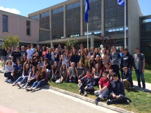 Μαθητές τού ολλανδικού Maurick College στο Αρσάκειο Λύκειο Πατρών