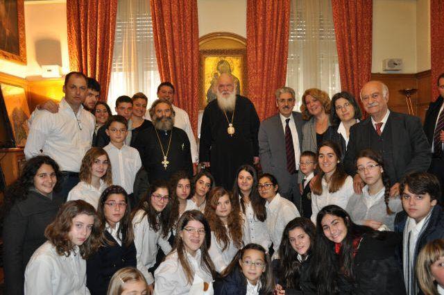 Χριστουγεννιάτικα κάλαντα στον Αρχιεπίσκοπο Αθηνών