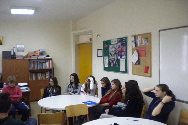 Συνάντηση τής ομάδας διαμεσολάβησης και πρόληψης τού σχολικού εκφοβισμού
