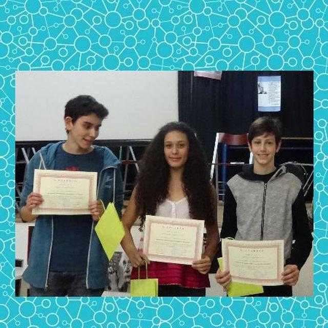 1ο βραβείο σε Διαγωνισμό Πειραμάτων Φυσικών Επιστημών